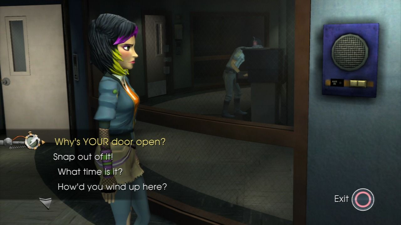 Back to the Future: The Game PlayStation 3 Episode 4 - Talking to Jen over the intercom.
