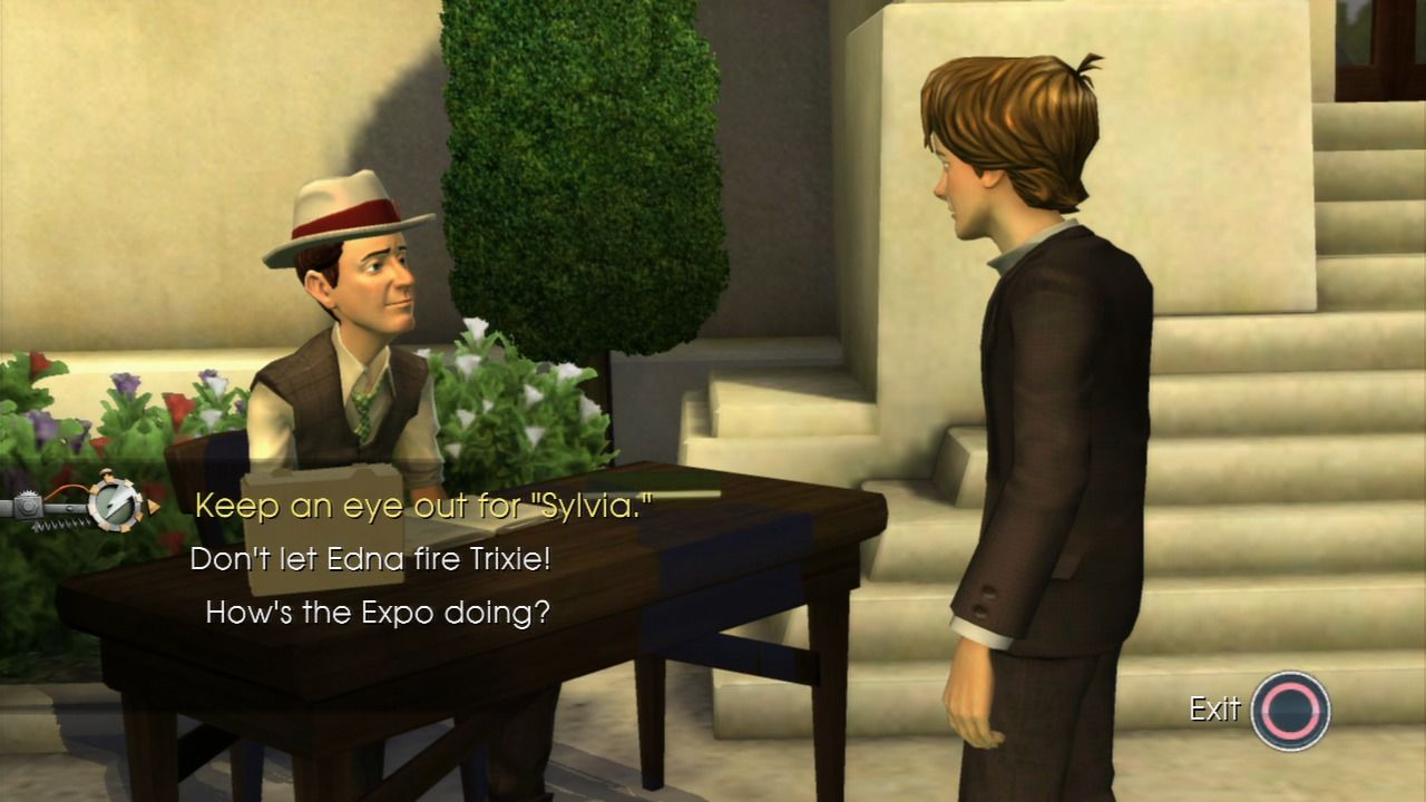 Back to the Future: The Game PlayStation 3 Episode 4 - Marty with his grandfather.