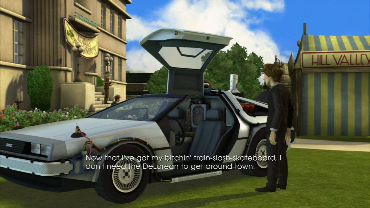 Back to the Future: The Game PlayStation 3 Episode 4 - The DeLorean as the ultimate time machine.