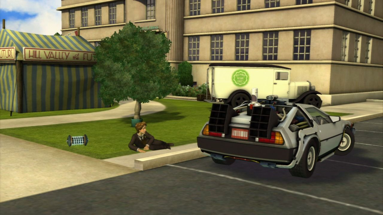 Back to the Future: The Game PlayStation 3 Episode 5 - Wow, that was some reckless driving.