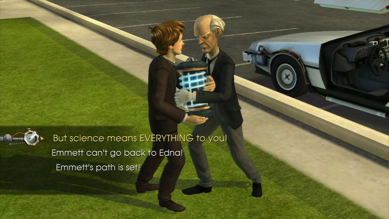 Back to the Future: The Game PlayStation 3 Episode 5 - Doc and Marty not seeing everything eye-to-eye.