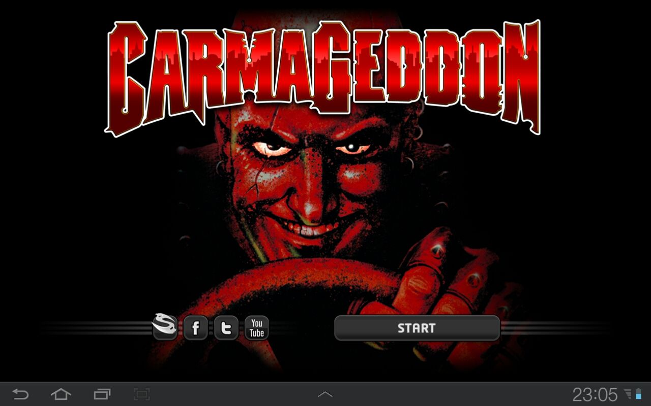 Carmageddon Android Title screen