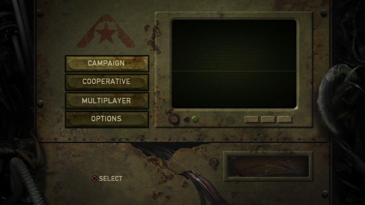 Resistance: Fall of Man PlayStation 3 Main menu.