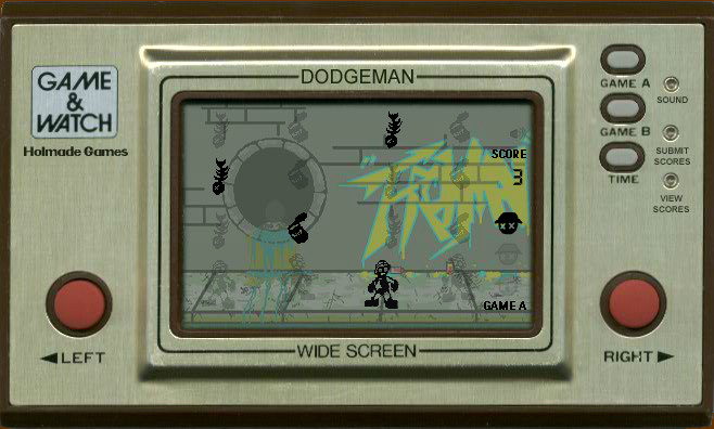 Game & Watch: Dodgeman Browser I have been hit, once, and lost one life.