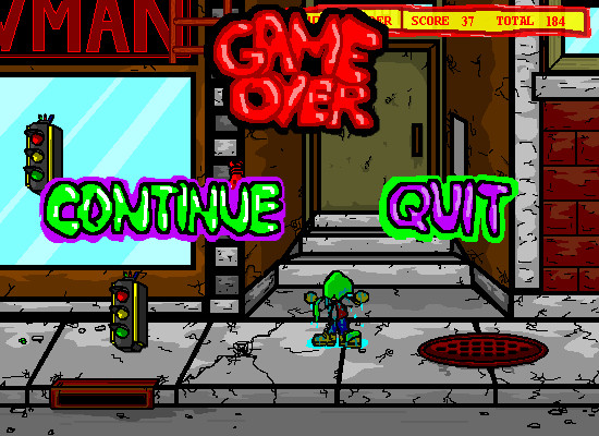 Dodgeman 2 Browser I lost all my lives. Game over. Continue or Quit?