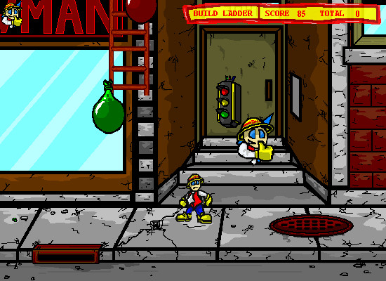 Dodgeman 2 Browser A free man is dropping down. The ladder in this level builds from the top.