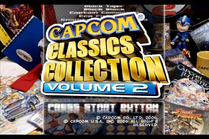 Capcom Classics Collection: Volume 2 Xbox Start screen