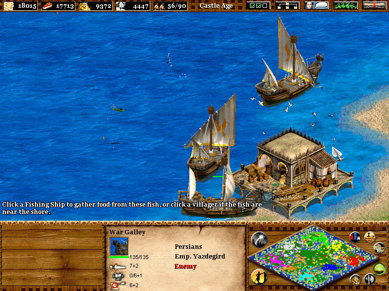 Age of Empires II: The Age of Kings Windows war galleys - not for fishing