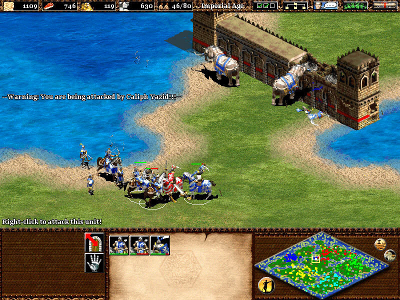 Age of Empires II: The Age of Kings Windows Attack with war elephants on enemy's wall