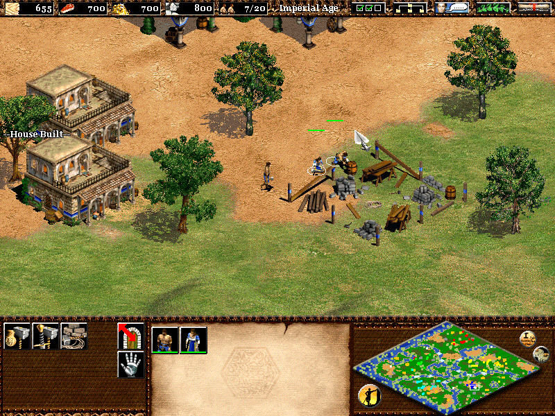 Age of Empires II: The Age of Kings Windows Villagers works in team