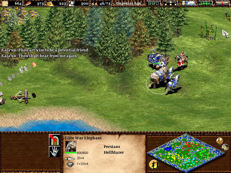 Age of Empires II: The Age of Kings Windows Horse versus elephant? Result is obvious