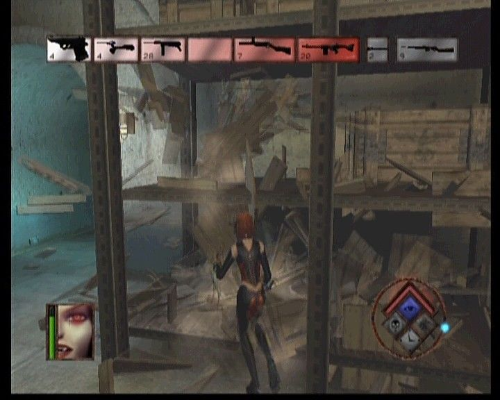 BloodRayne Xbox Trashing nazis' storage crates in search for some firepower.