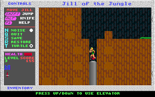 Jill of the Jungle DOS Elevator