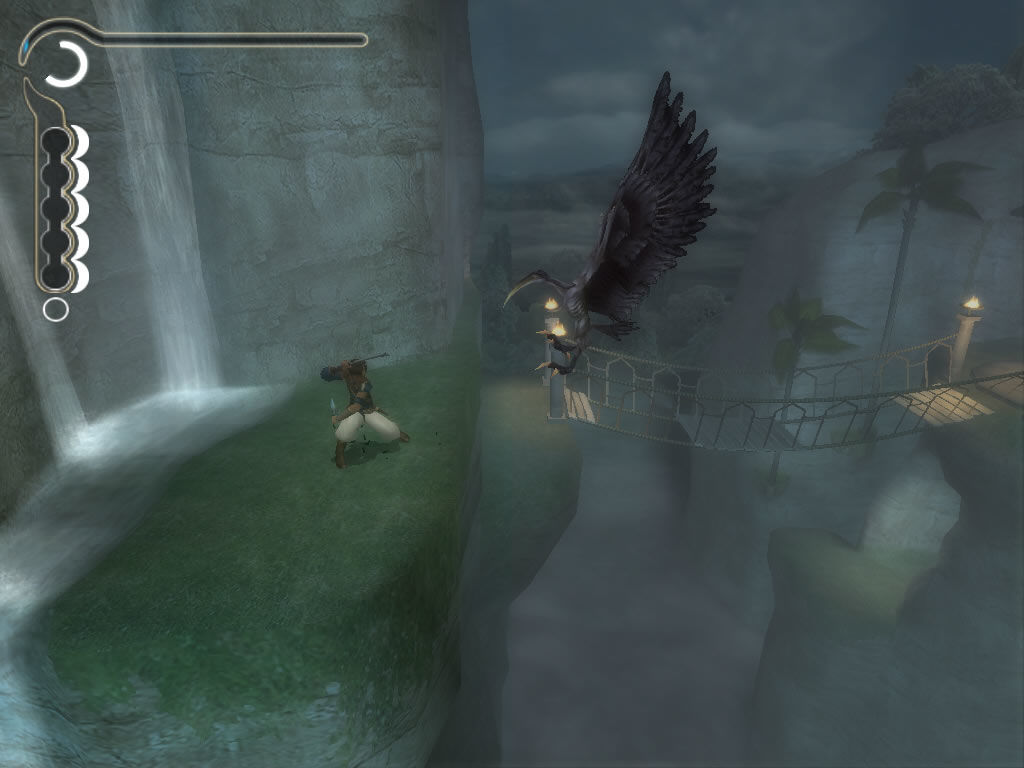 Prince of Persia: The Sands of Time Windows Attacked by giant birds on dangerous heights