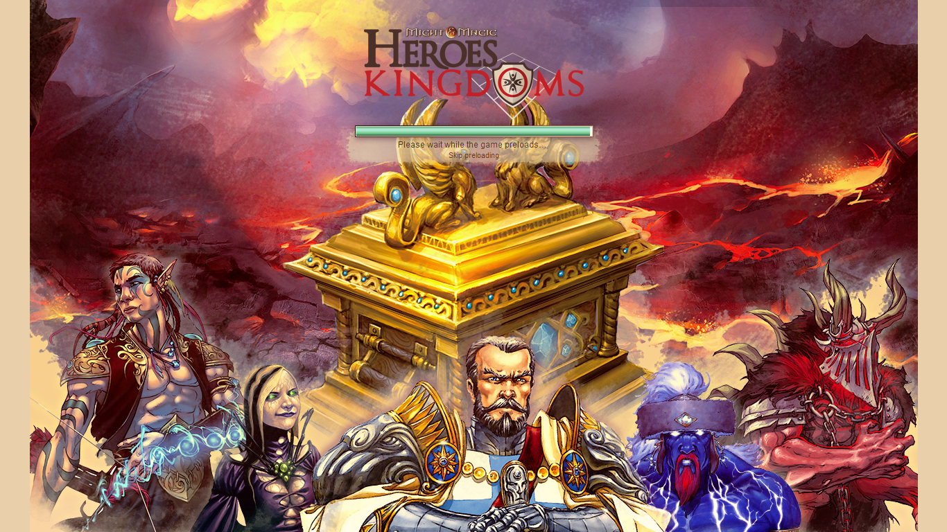 Might & Magic: Heroes Kingdoms Asia Browser Loading screen