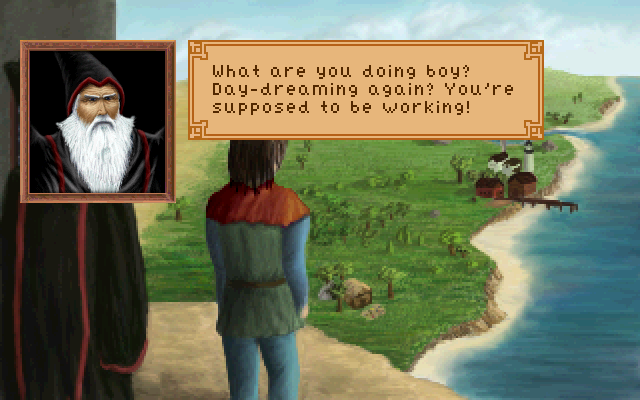 King's Quest III: To Heir Is Human Windows Gwydion caught a break