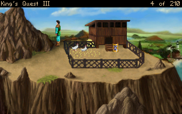 King's Quest III: To Heir Is Human Windows Feeding the chickens