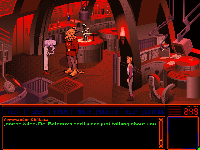 Space Quest 6: Roger Wilco in the Spinal Frontier Windows 3.x Dr. Beleauxs and Com. Kielbasa