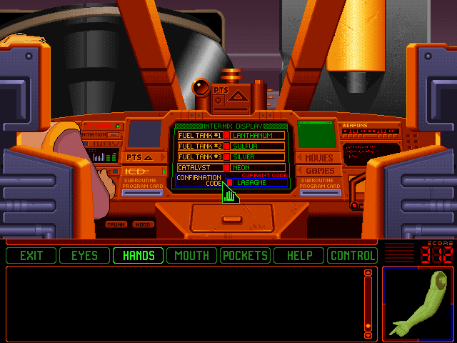 Space Quest 6: Roger Wilco in the Spinal Frontier Windows 3.x Copy protection