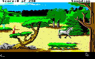 King's Quest IV: The Perils of Rosella Apple IIgs It's a unicorn, Charlie! A magical unicorn!