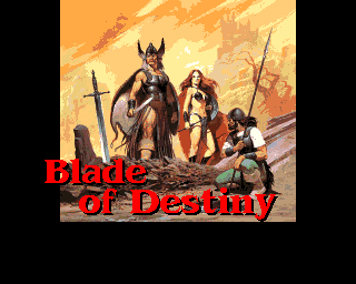 Realms of Arkania: Blade of Destiny Amiga The title screen for this entry in the series.