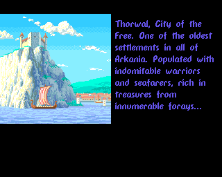 Realms of Arkania: Blade of Destiny Amiga Start of the lengthy introduction.