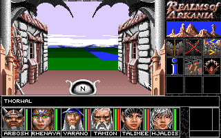 Realms of Arkania: Blade of Destiny Amiga On the edge of the town.