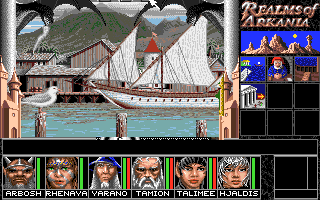 Realms of Arkania: Blade of Destiny Amiga You can travel by boat at the shipyard, if there are any in port.
