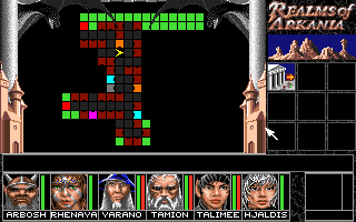 Realms of Arkania: Blade of Destiny Amiga The overhead auto-map screen.