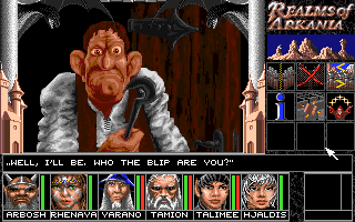 Realms of Arkania: Blade of Destiny Amiga Not everyone in town is friendly.