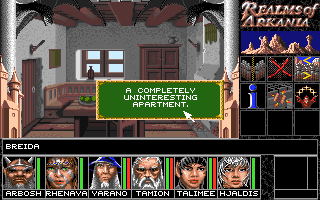 Realms of Arkania: Blade of Destiny Amiga You can choose to break into houses but many have nothing of interest.