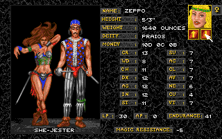 Realms of Arkania: Blade of Destiny Amiga Others are more unusual such as the Jester.