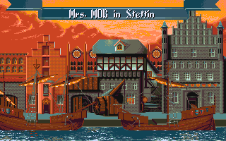 The Patrician Amiga The main town screen in Stettin.