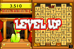 Bookworm Deluxe Game Boy Advance Level up