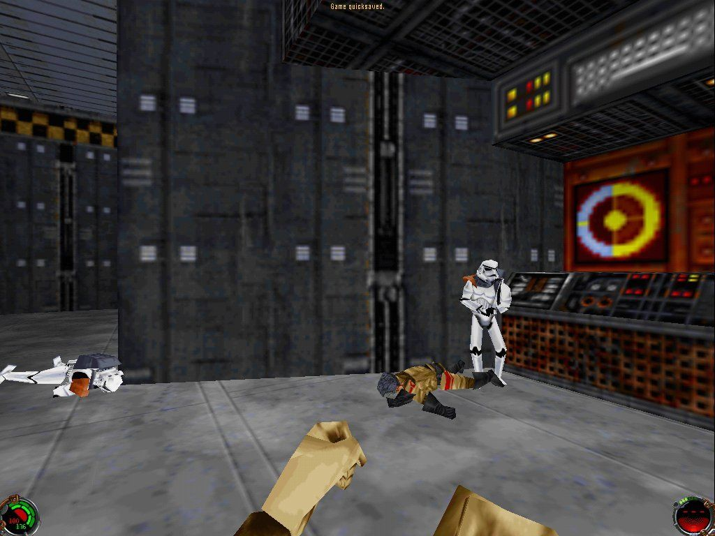 Star Wars: Jedi Knight - Dark Forces II Windows Storm troopers (higher resolution play)