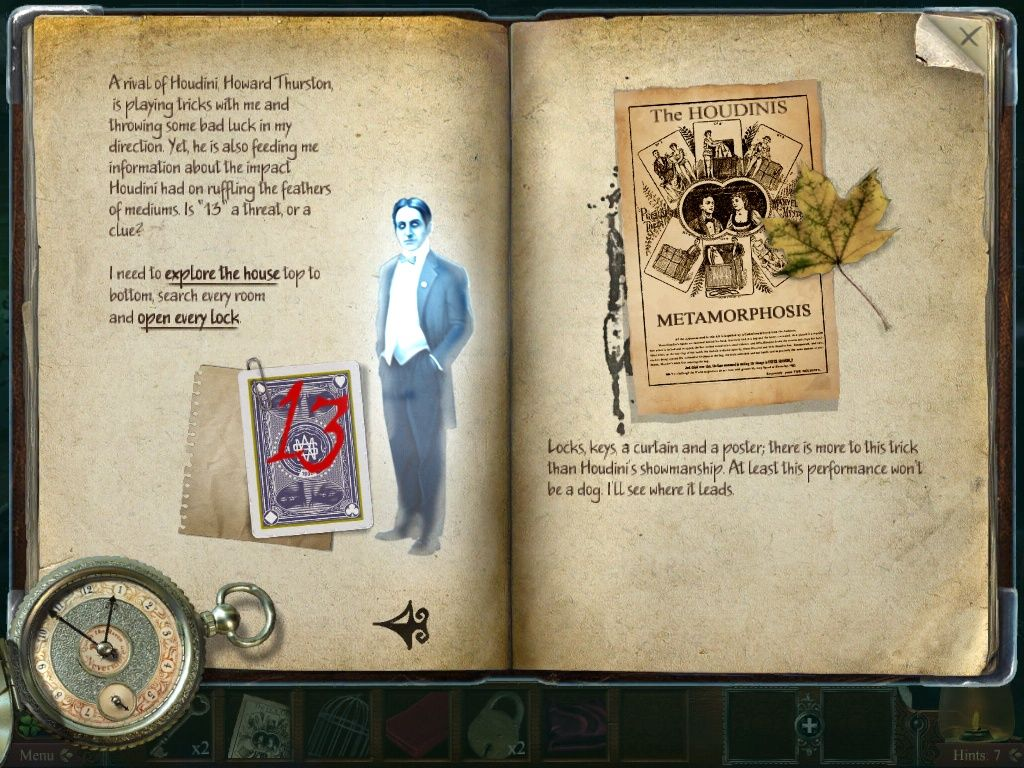 Midnight Mysteries: Haunted Houdini iPad Journal