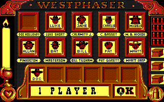 West Phaser DOS Playing as Doc Holliday (EGA)