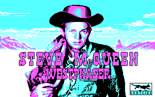 West Phaser DOS Title screen (CGA)