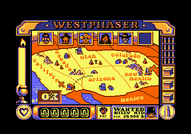 West Phaser Amstrad CPC Wanted: Billy the Kid