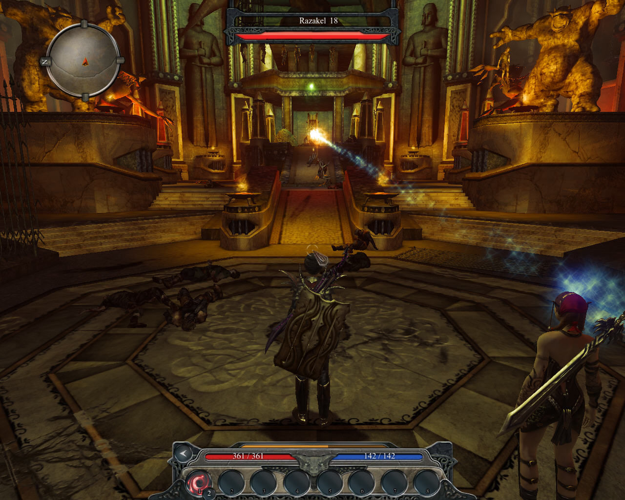 Divinity II: Ego Draconis Windows Fight in the throne room of the Battle Tower