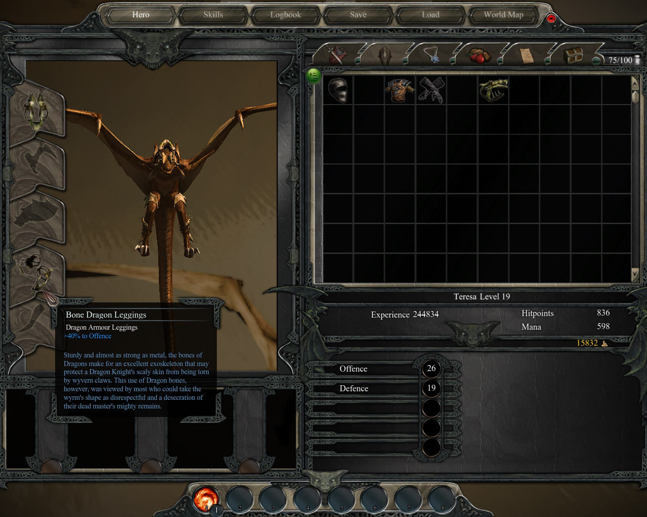 Divinity II: Ego Draconis Windows You can also equip your dragon form! Look at this helmet and those leggings! It's cute...