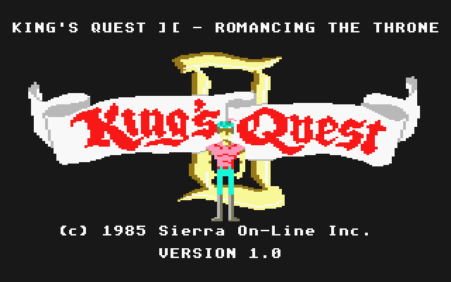 King's Quest II: Romancing the Throne Atari ST Title screen