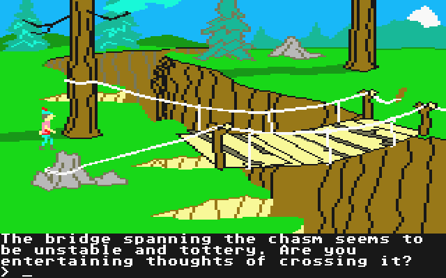 King's Quest II: Romancing the Throne Atari ST Is that bridge safe for crossing?