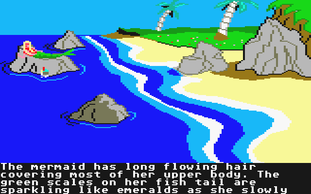 King's Quest II: Romancing the Throne Atari ST King Graham meets a mermaid