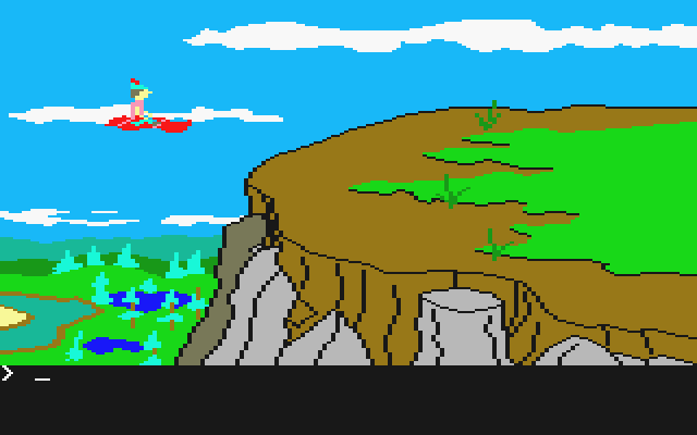 King's Quest II: Romancing the Throne Atari ST On a flying carpet