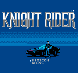 Knight Rider NES Title Screen