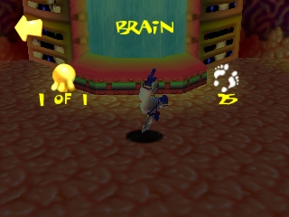 Earthworm Jim 3D Nintendo 64 Brain