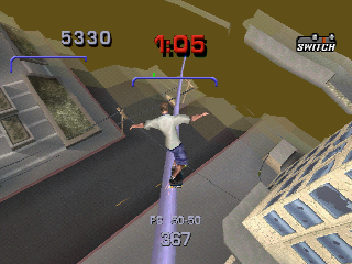 Tony Hawk's Pro Skater 3 PlayStation You require more balance to do this grind.