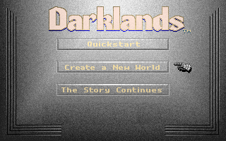 Darklands DOS Main menu