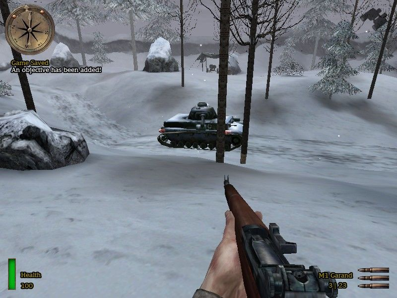Medal of Honor: Allied Assault - Spearhead Windows Rifle is a bad attempt to scare a german tank.